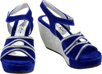 Luca Fashion Women Blue Wedges