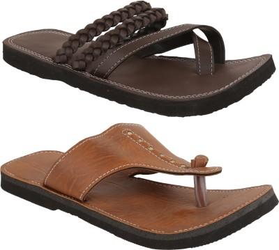 Ridhi Sidhi Men, Boys Burgundy, Brown Sandals