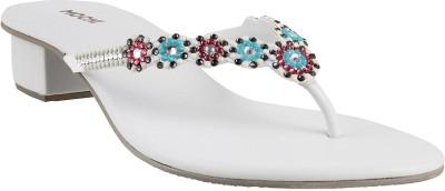 Mochi Women White Heels