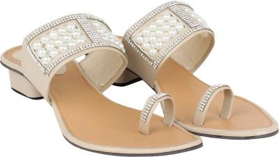 AROVI Women White Heels