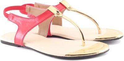 Cenizas Golden Pie Women Red Flats
