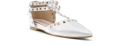 Shuberry Women White Flats