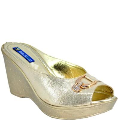 Blue Parrot 0754 Gold Women Gold Wedges