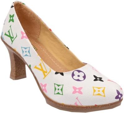 Glossy Women White Heels