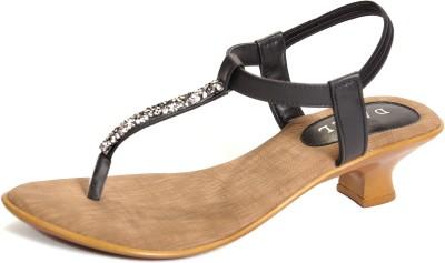Dazzl Elle Women Black Heels