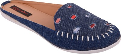 Exotique Women Blue Flats