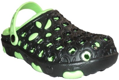 Mode Men, Women Green, Black Clogs