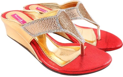 Vinayak Collection Women Red Wedges