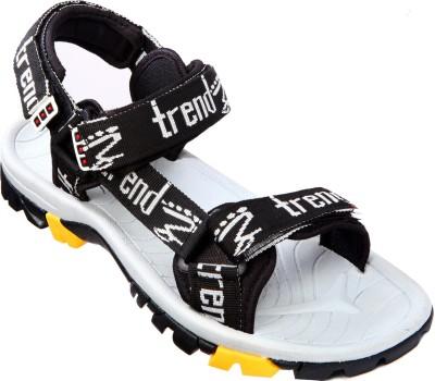VKC Trendz Men Black, Grey Sandals