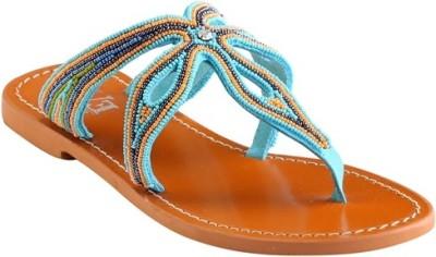 EVE DIOR Women Blue Flats