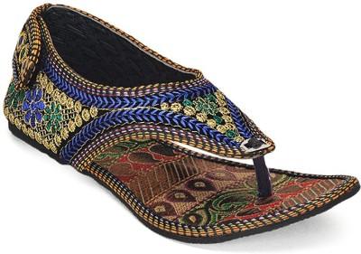 Paduki Ethnic Women Blue Flats