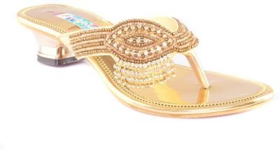 Dream Selection Women Gold Heels