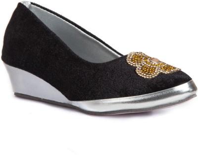 Babes Girls Black, Gold Sandals