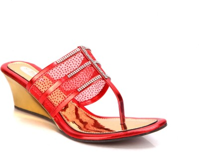 Laila Collections 808 Women Red Wedges