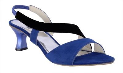 Fabme Women Blue Heels