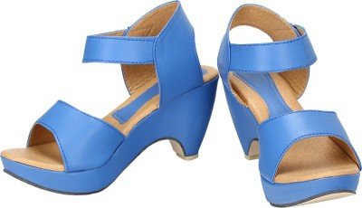 Royal Indian Exposures Women Blue Wedges