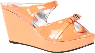Butterfly Women Orange Wedges
