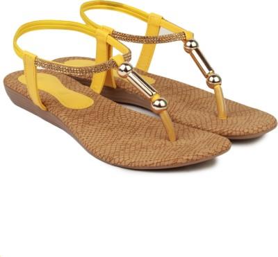 Queen Steps Women Yellow Flats