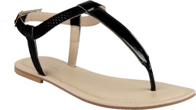 Glety Women Black Flats