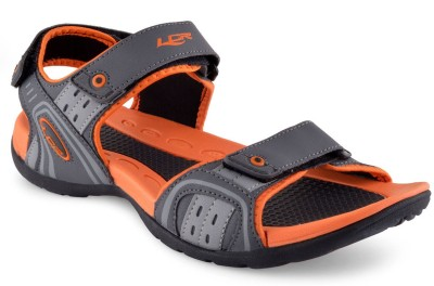 Lancer Men Grey, Orange Sandals