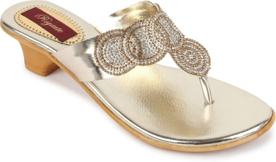 Royaute Women Gold Heels