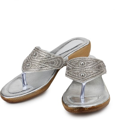 Bonzer Women Silver Wedges