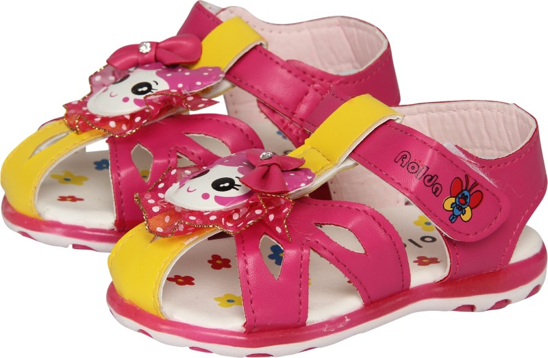 FabSeasons Boys, Girls Pink Sandals
