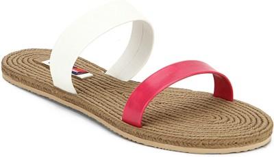 American Swan Women White, Pink Flats