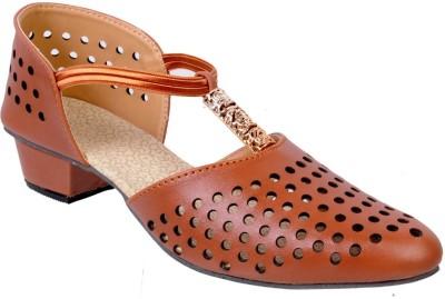 Fescon Women Tan Heels