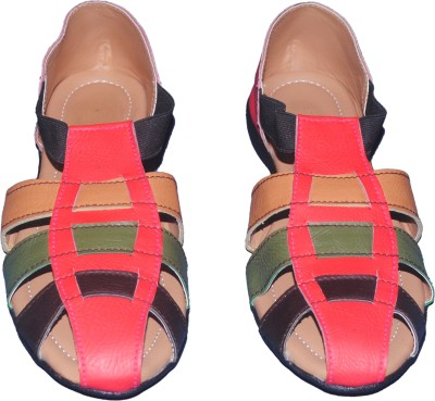 Kolapuri Center Women Multicolor Flats