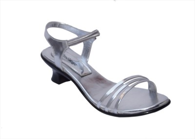 Mmelange Women Silver, Silver Heels