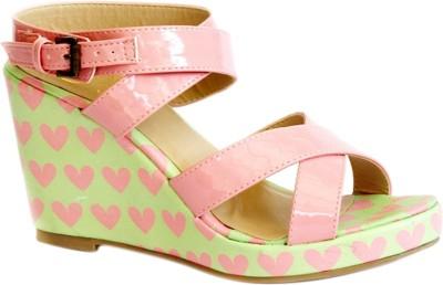 Kanabis Women Pink Wedges