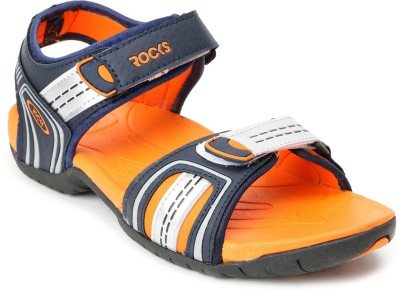 Welcome Men Blue, Orange Sandals