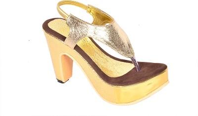 Zohra Collection Women Brown Heels
