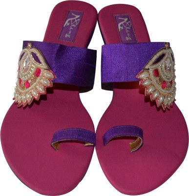 Bling Footwear Women Purple Flats