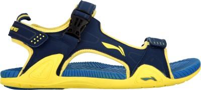 Li-Ning Men Blue, Yellow Sandals