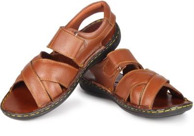 Leather King Men Tan Sandals