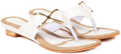 Ka Fashion Women White Flats
