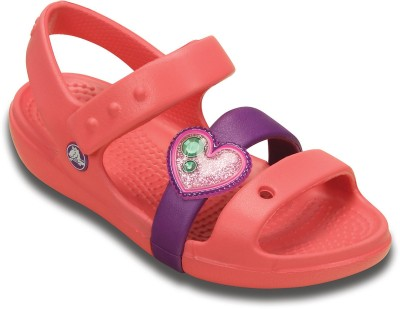 Crocs Baby Girls Orange Sandals