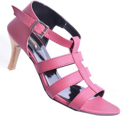 Walkaway Women Maroon Heels
