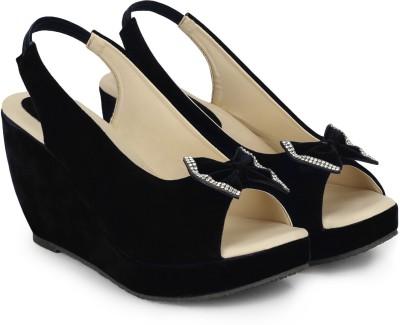 CSBS Sale Women Black Wedges