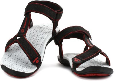 Lotto Men Black, Red Sandals