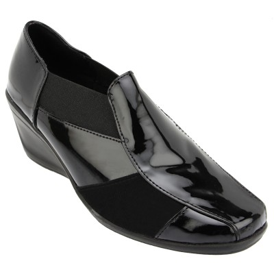 Catwalk Women BLACK Wedges at flipkart