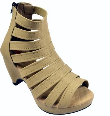 easy walk Women Beige Heels