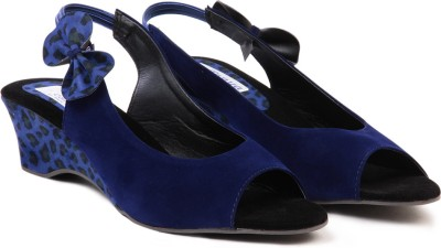 TEN Suade Blue Women Blue Wedges