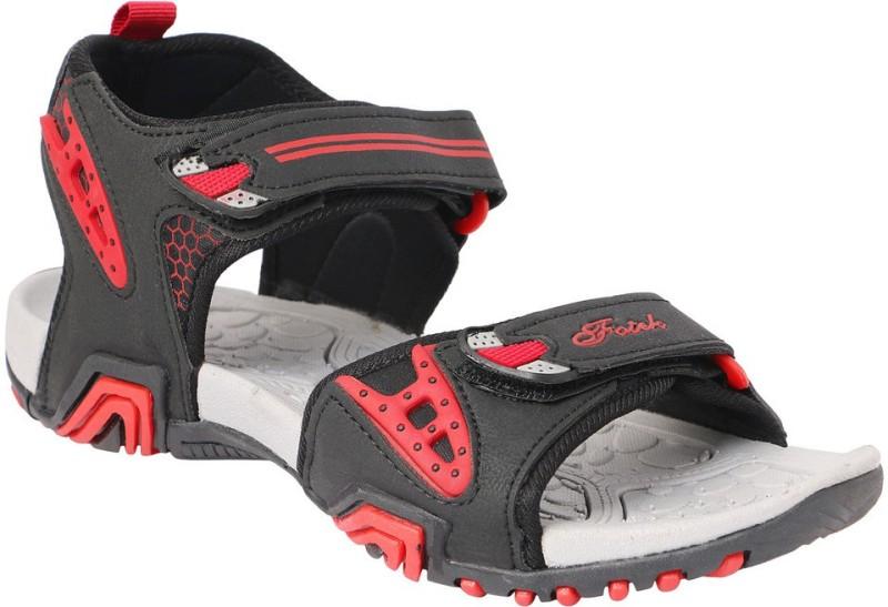 Fotek Men Grey Red Sandals