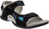 Cyke Men Black & Blue Sandals