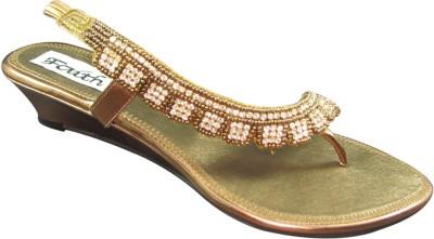 Faith 1000246 Women Gold Wedges