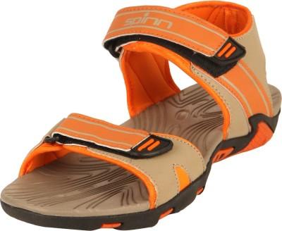 Spinn Men Beige, Orange Sandals