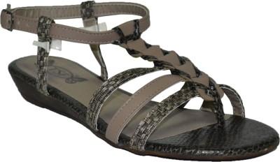 TSF Grey Sandal Women Grey Flats